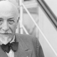 (Original Caption) New York: Pirandello. Nobel Prize Winner Here. Luigi Pirandello, famous Italian playwright and winner of the Nobel Award for Literature for 1934, photographed on the S. S. Conte Di Savoia when he arrived in America today, July 20th. The playwright will spend several weeks in New York and will then proceed to Hollywood where he will oversee the production of his book Six Characters In Search Of An Author, while still in Europe, Signor Pirandello denied he had been forced to cancel his passage to America on a French liner, as had been reported.